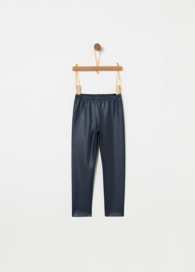 Pantaloni in similpelle effetto lucido