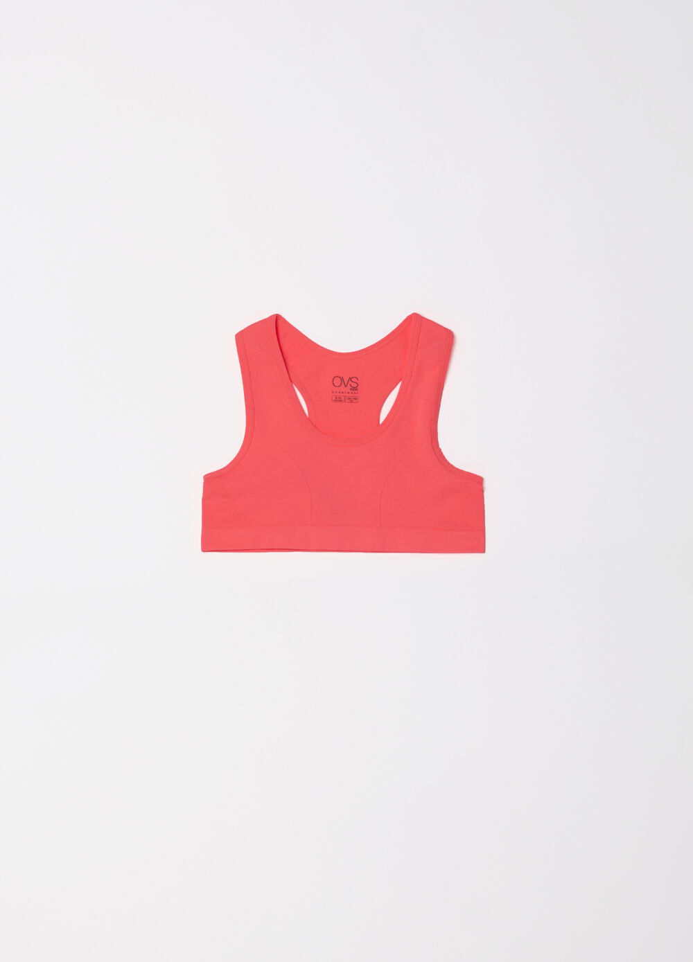 Microfibre gym top with V neck