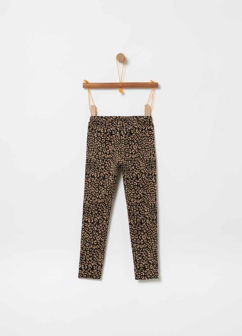 Pantaloni stretch fantasia animalier image number null