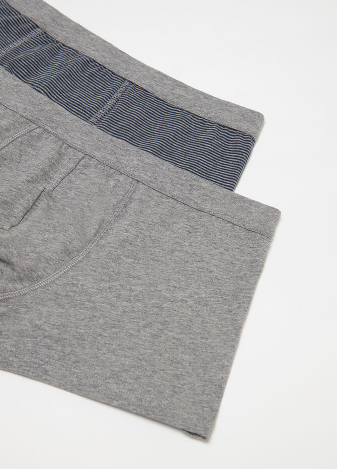 Two-pack yarn-dyed stretch cotton boxer shorts