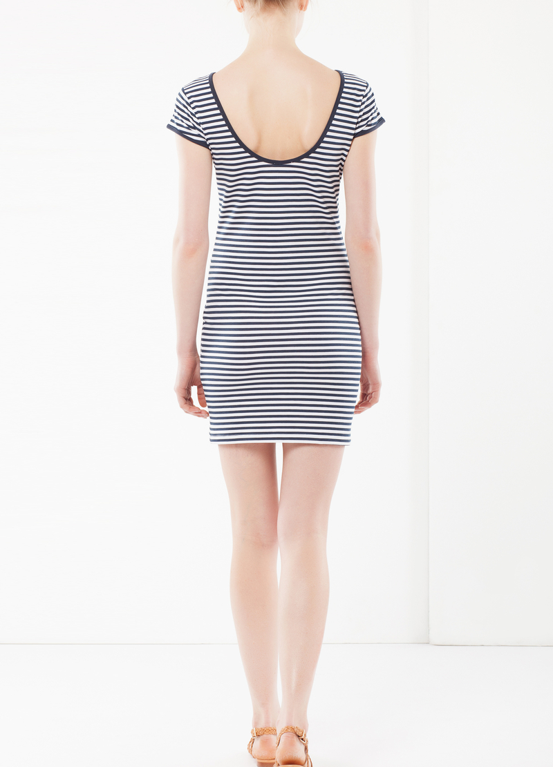 Contrasting trims pencil dress image number null