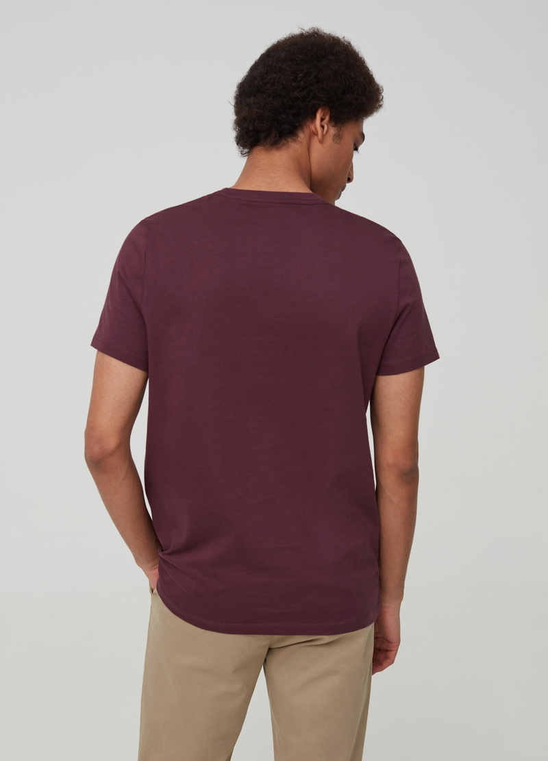 100% Supima cotton T-shirt with V neck image number null