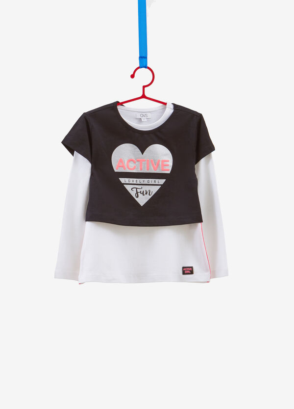 Completo due t-shirt cotone stampa