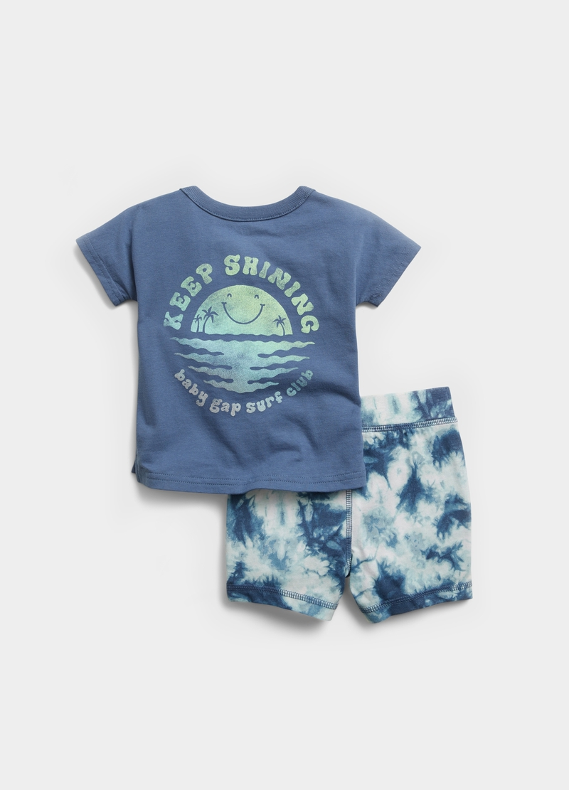 GAP T-shirt with pocket and shorts set image number null