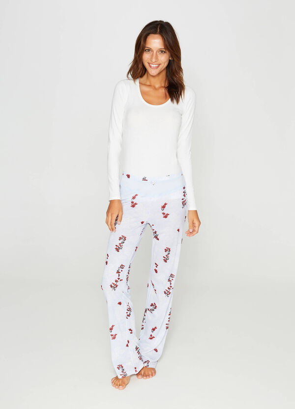 Floral pyjama bottoms with bow | OVS
