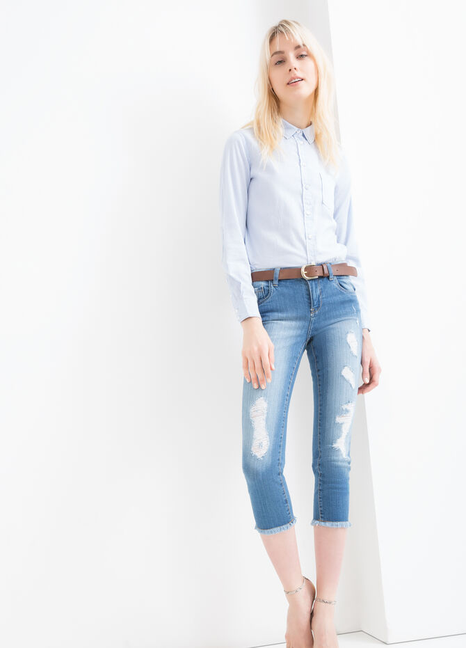Faded effect, stretch skinny-fit jeans