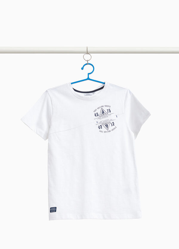 100% cotton T-shirt with printed lettering