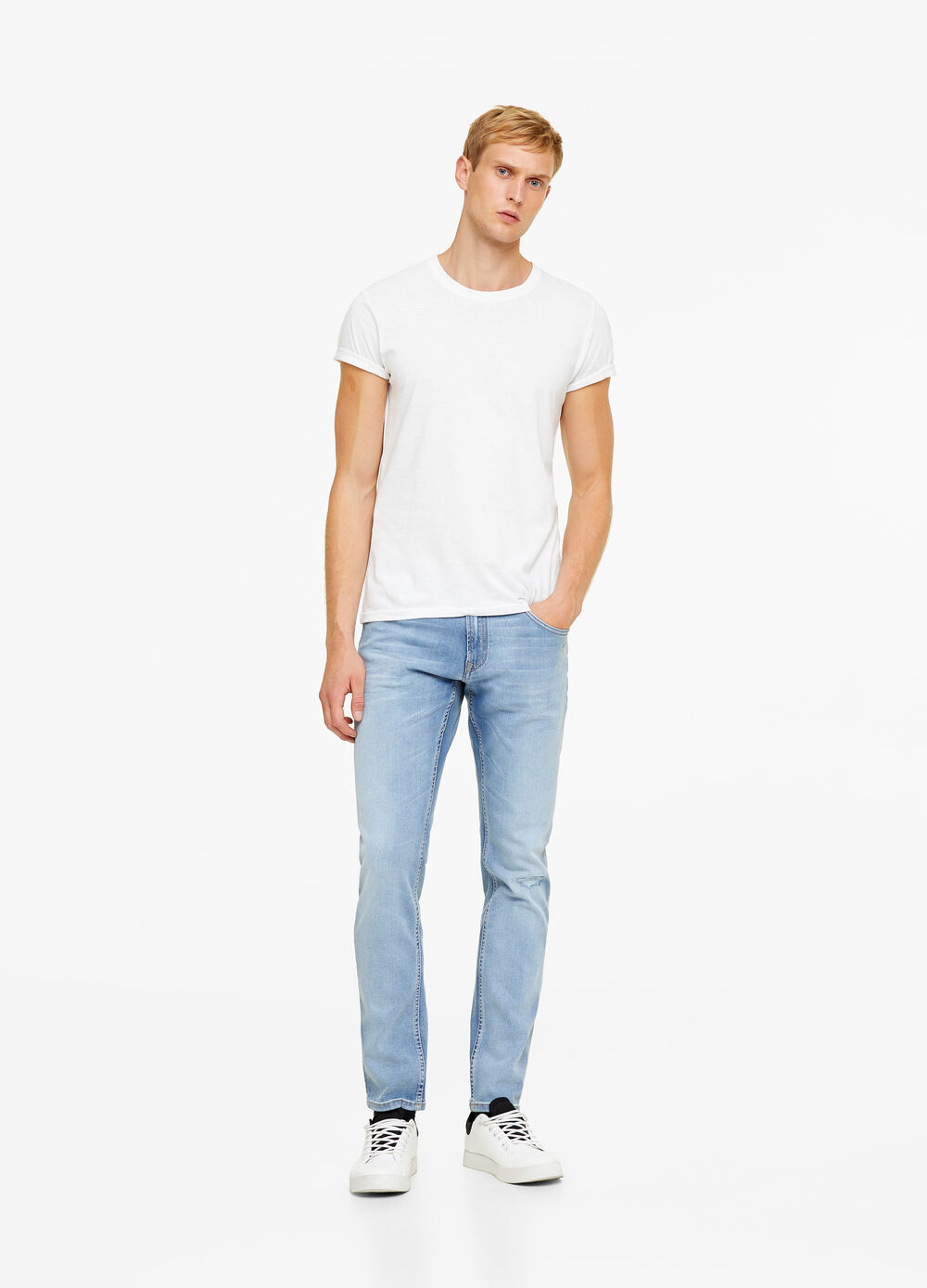 Jeans slim fit con tessuto T-blend