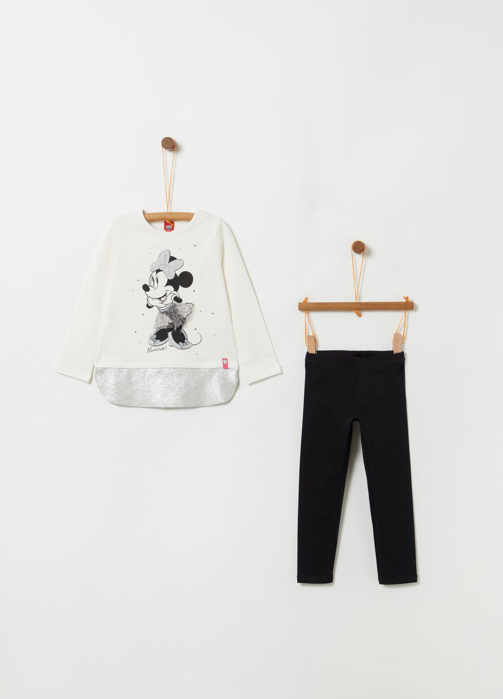 Glitter Minnie Mouse jogging set with top and leggings