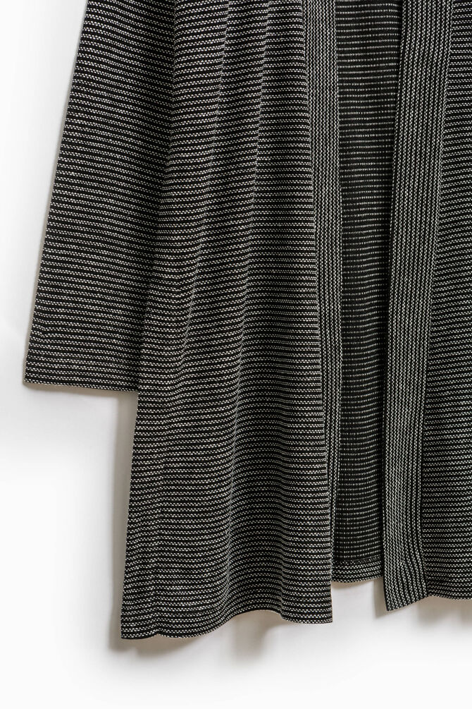 Smart Basic long striped cardigan