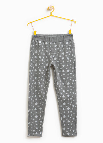 Cotton blend star trousers