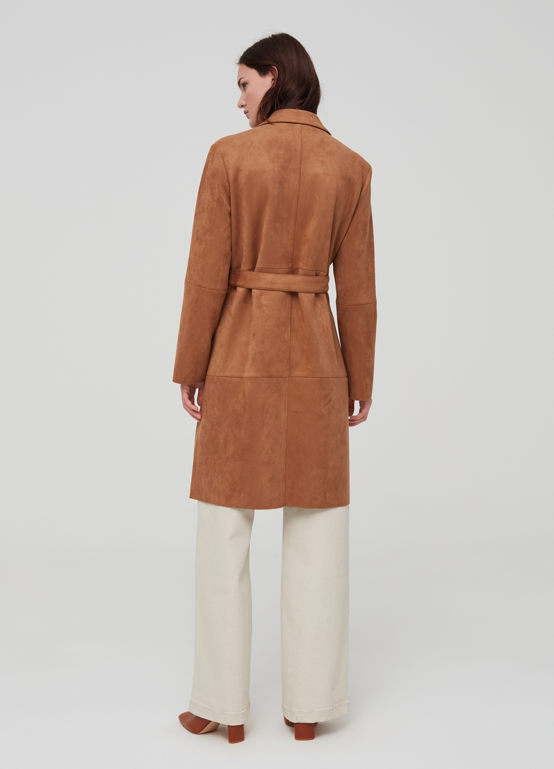 Cappotto con revers in suede image number null