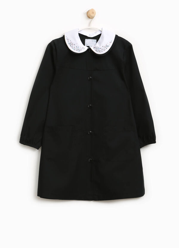 Cotton smock with diamantés on collar | OVS