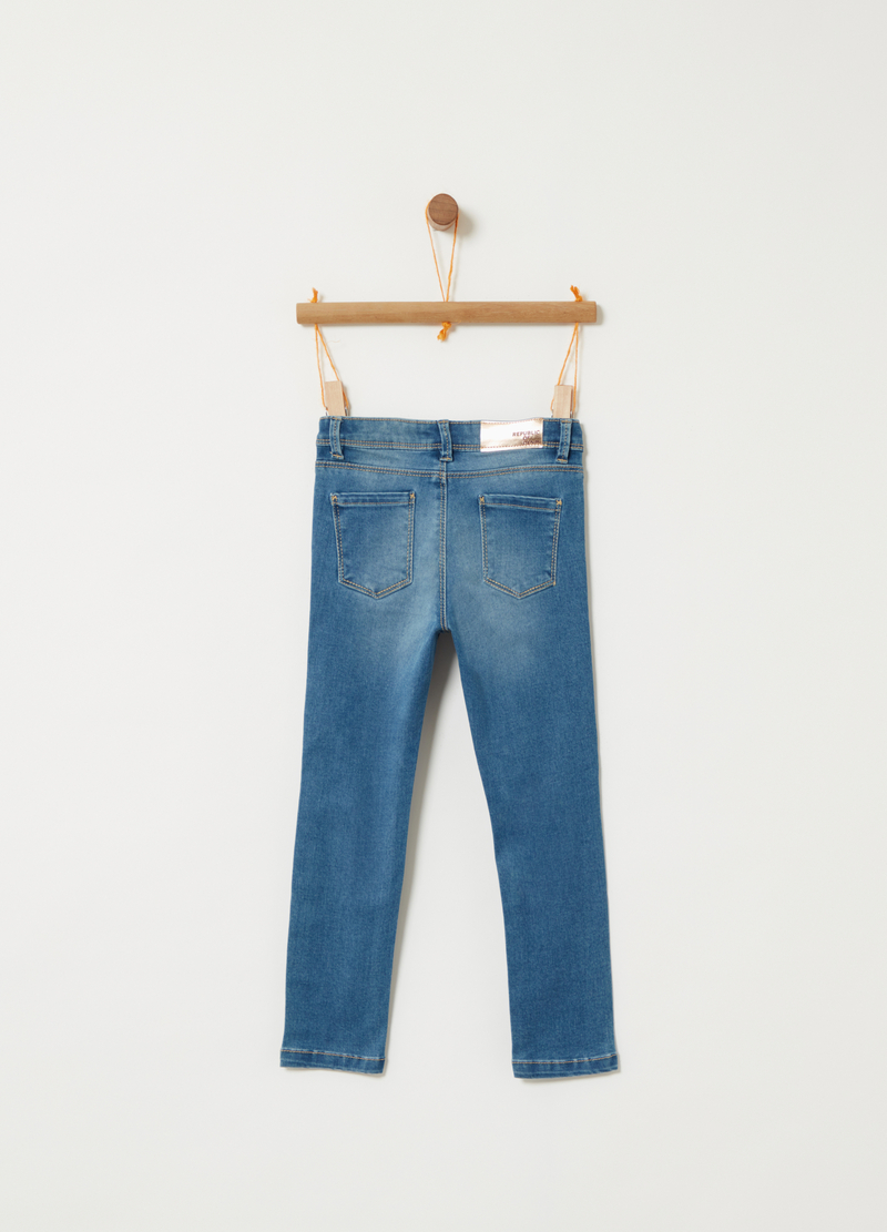 Denim superskinny fit effetto vintage image number null