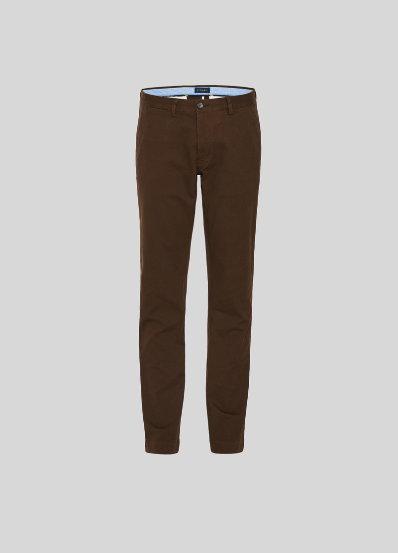 PIOMBO cotton dobby chino trousers image number null
