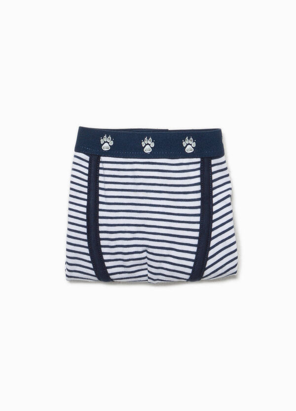 Striped organic stretch cotton boxers | OVS