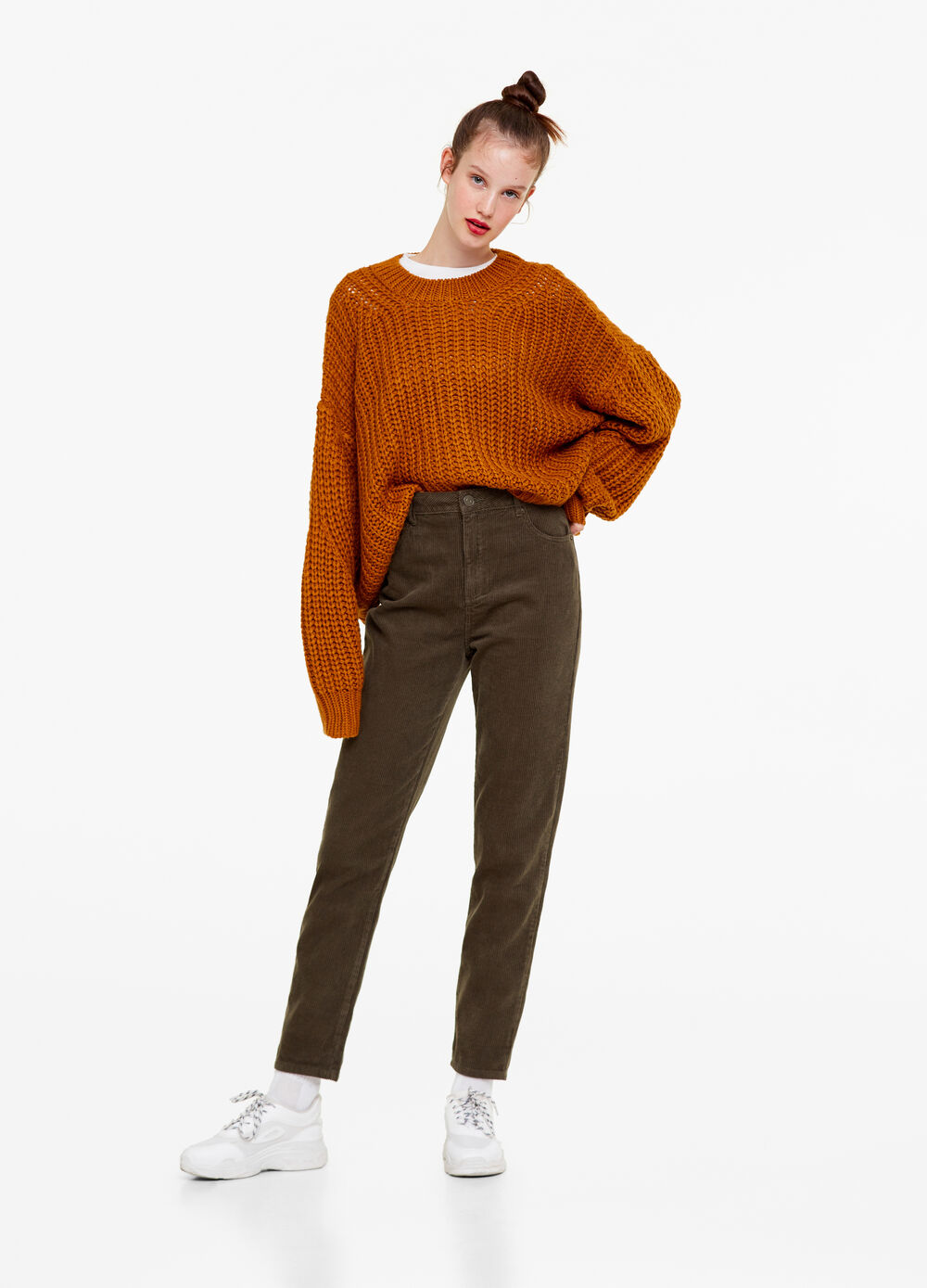 100% cotton girlfriend trousers