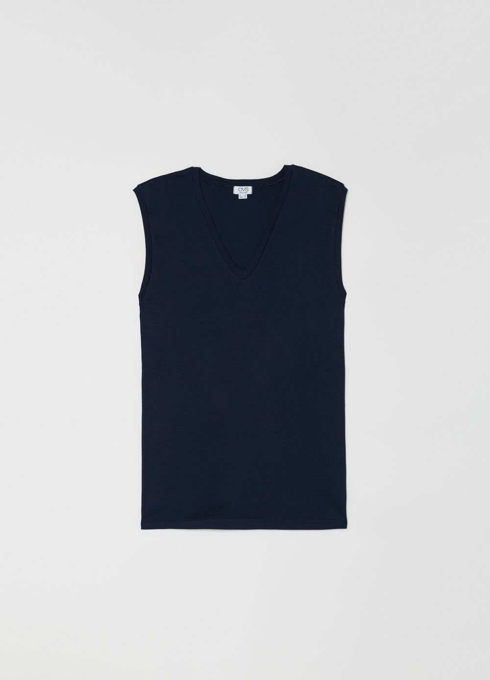100% cotton V-neck racerback vest