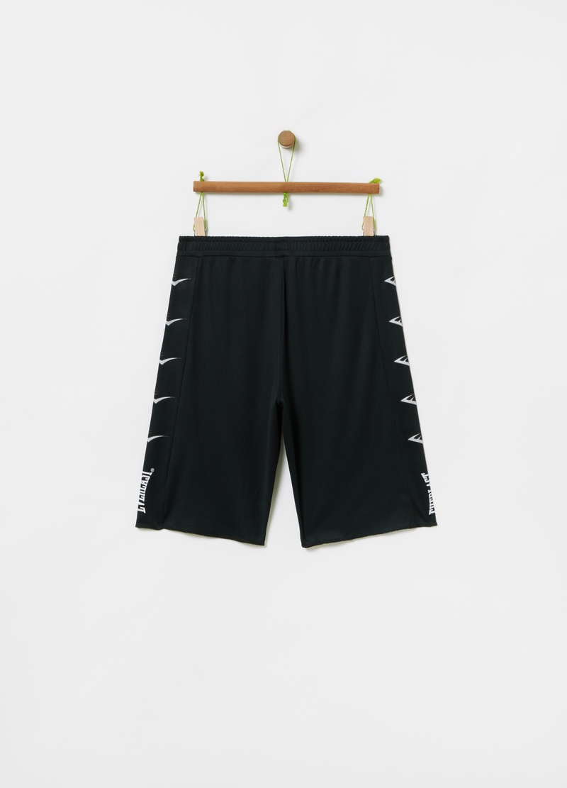Solid colour Bermuda shorts with Everlast print image number null