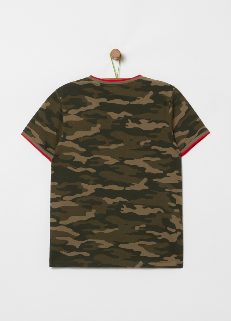 Camouflage T-shirt in stretch cotton image number null