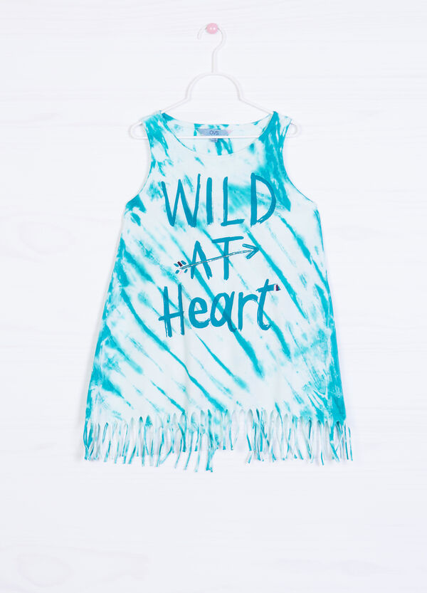 Printed vest in 100% cotton | OVS