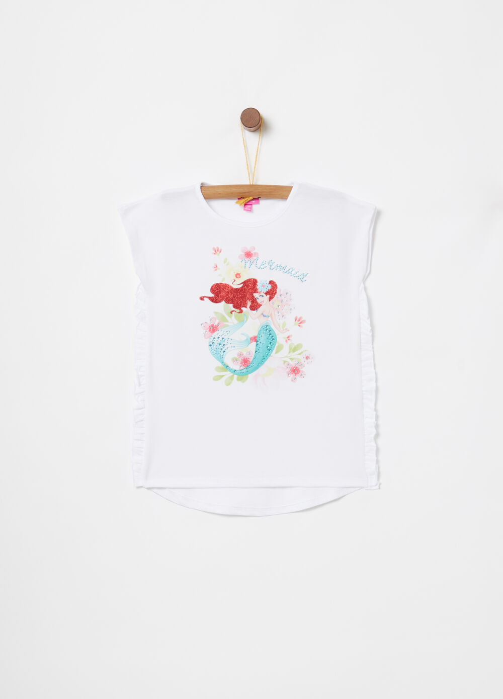T-shirt rouches e stampa Disney