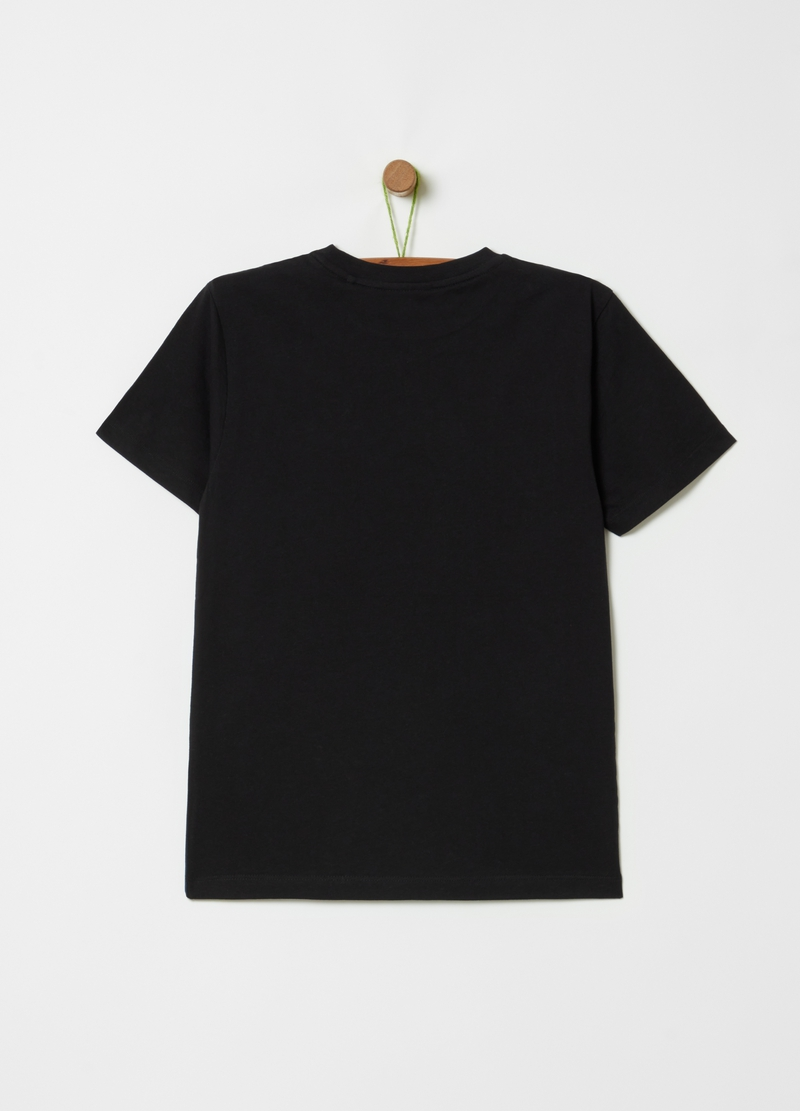 Organic cotton T-shirt with print on the front image number null