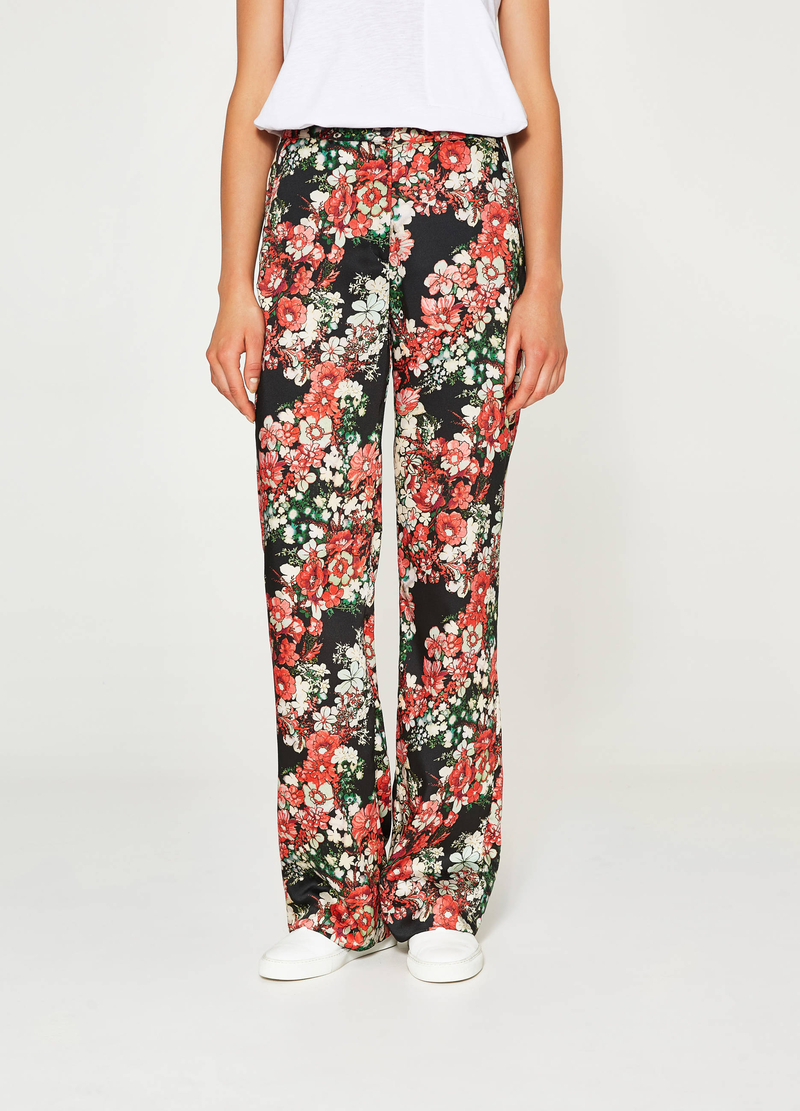 Pantaloni stampa floreale all-over image number null