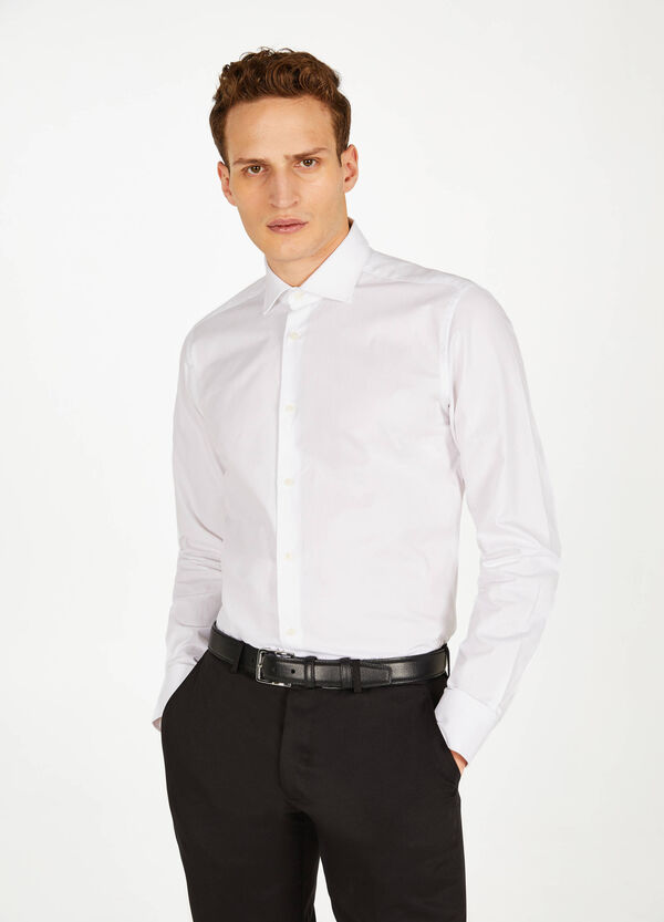 Striped cotton slim-fit formal shirt