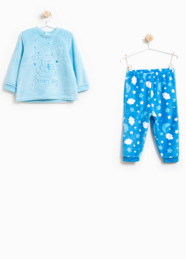 Pyjamas with teddy bear embroidery and sky pattern | OVS