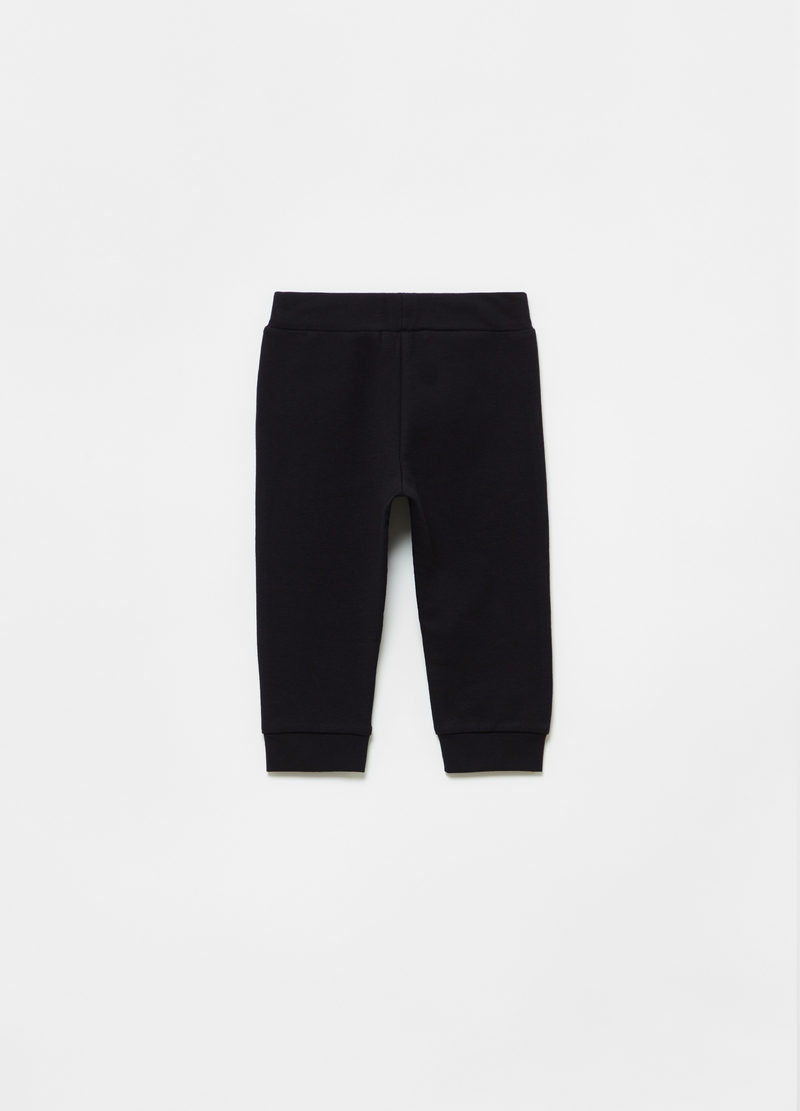 Joggers in cotone stretch stampa glitter image number null