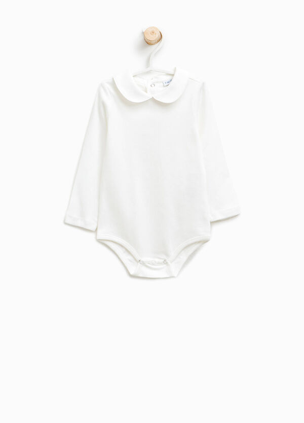 Cotton bodysuit with rounded collar   OVS