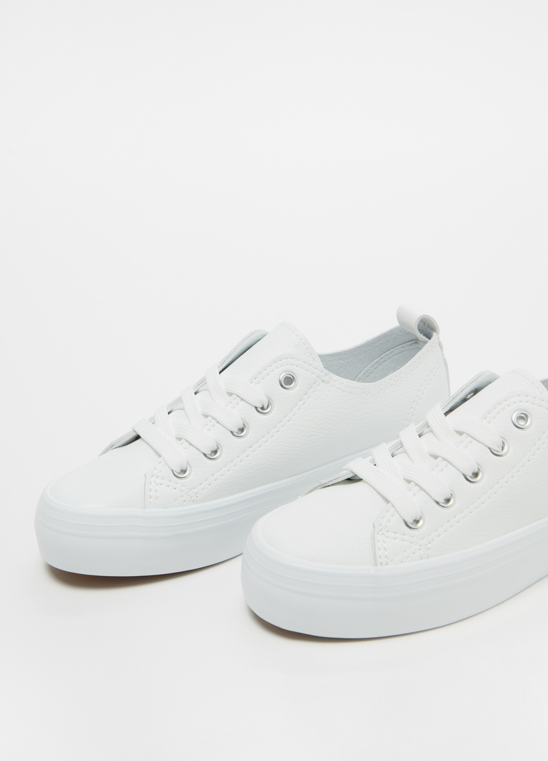 Platform lace-up sneakers image number null