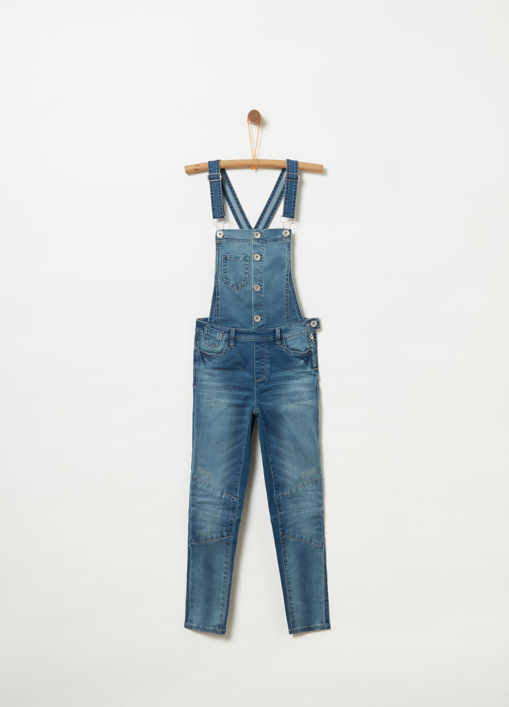 Salopette superskinny in denim stretch