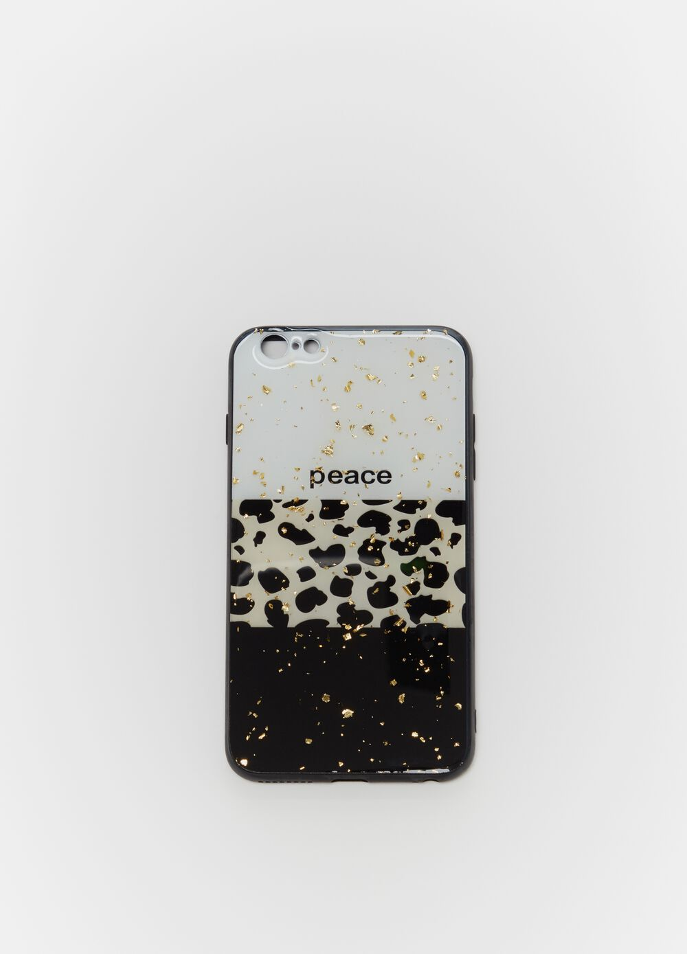 Colourblock iPhone cover with animal print details