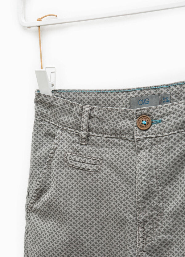 Cotton Bermuda shorts with all-over print   OVS