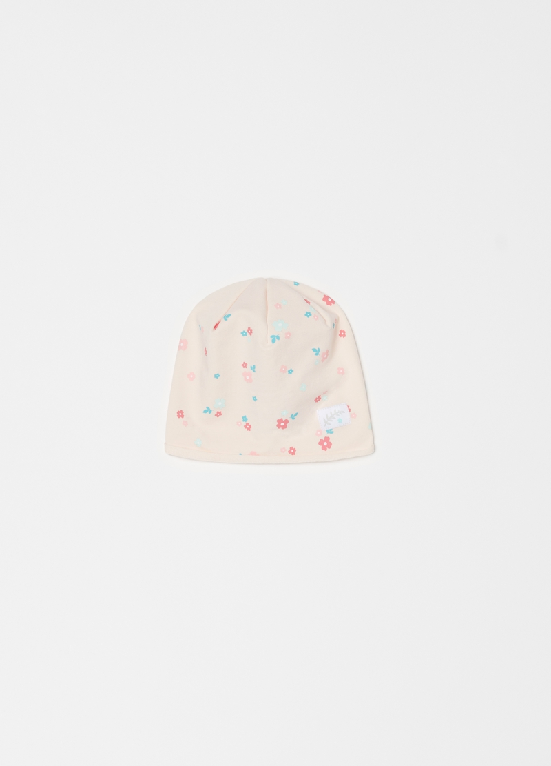 Jersey hat with floral pattern image number null