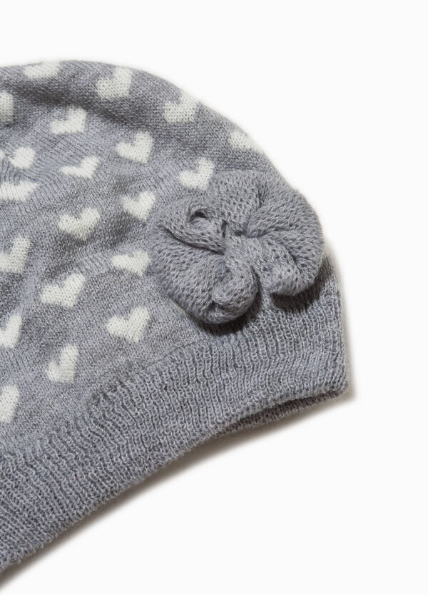Beanie cap with flower and pattern | OVS