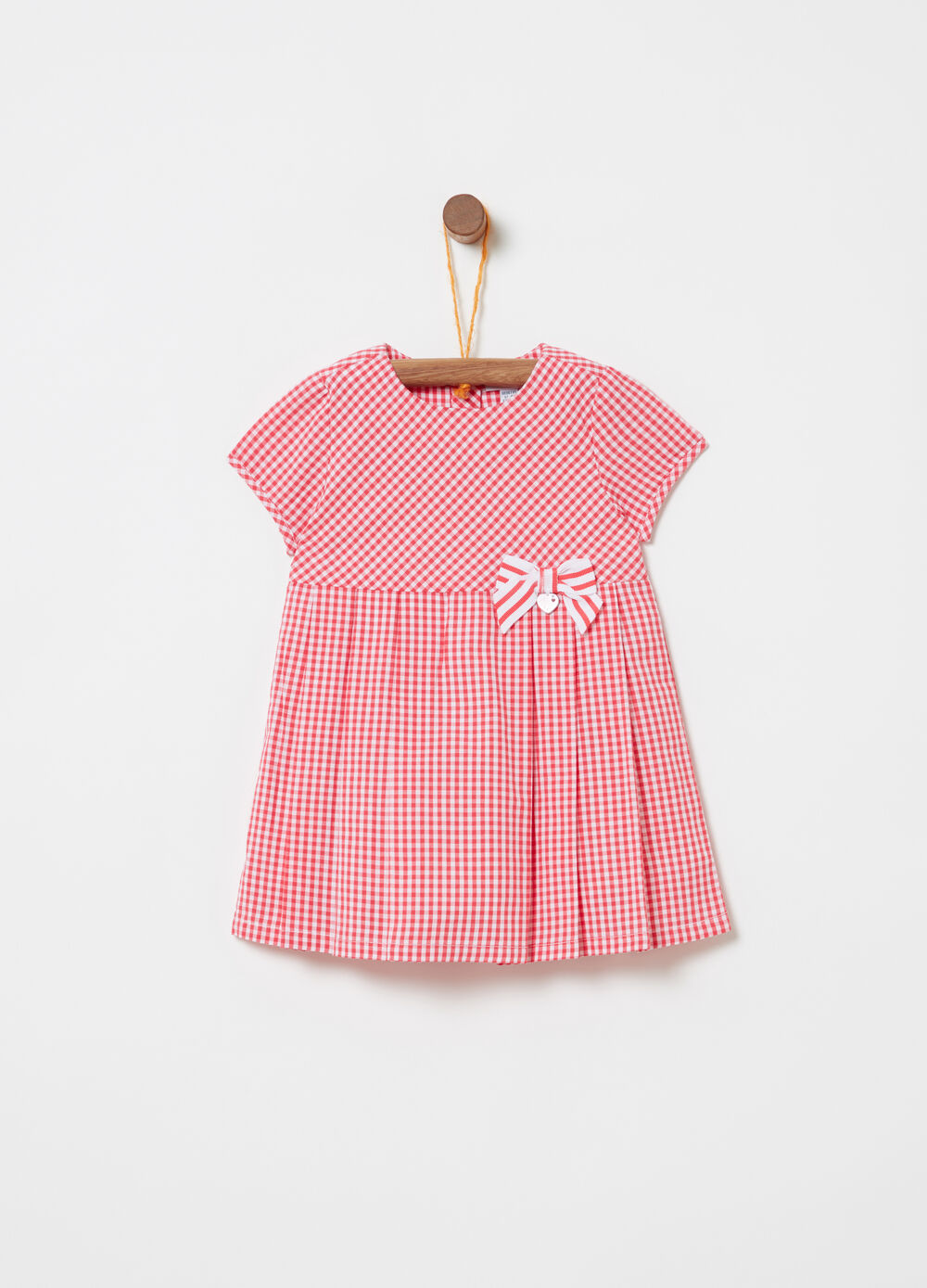 Dress with grosgrain bow