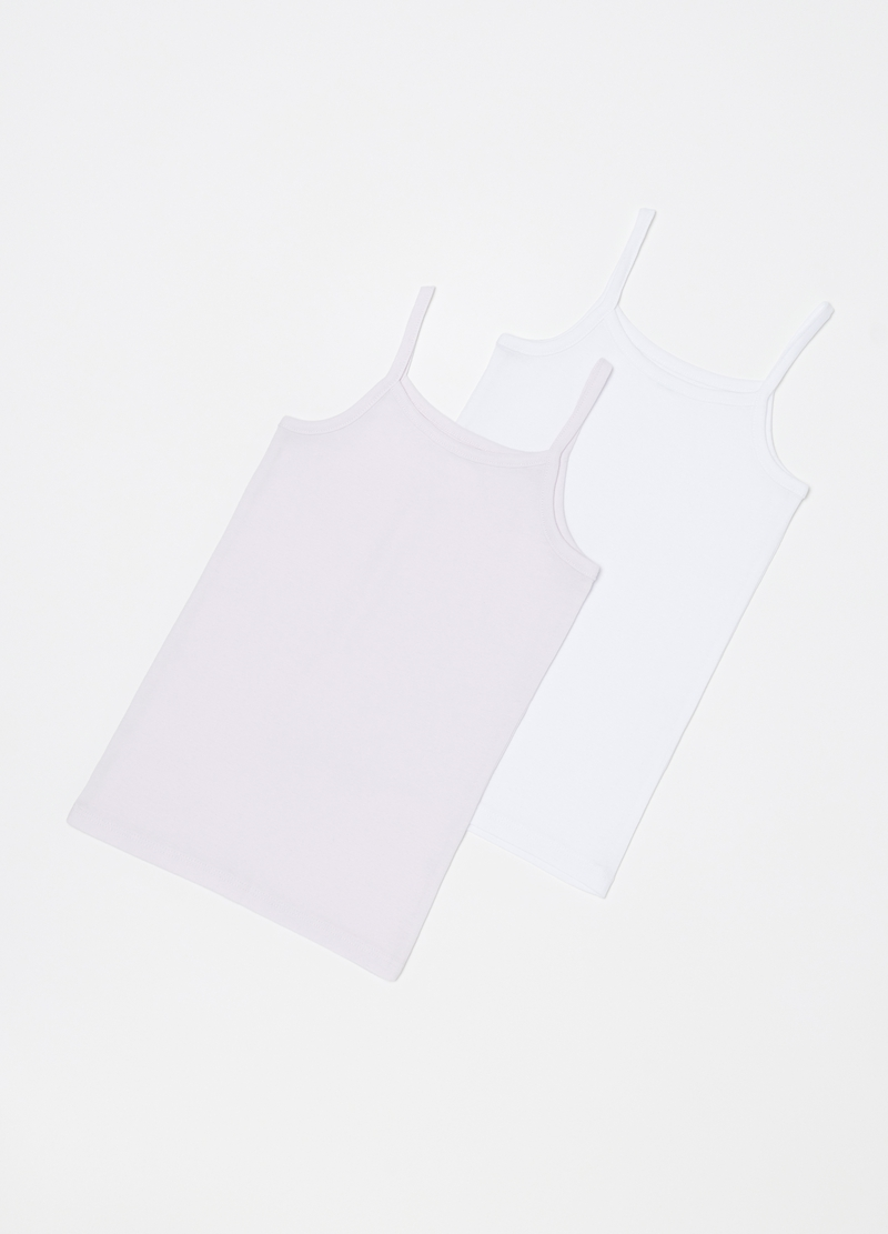 Two-pack solid colour under vests image number null