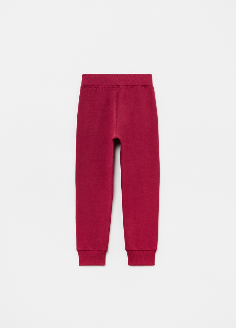 Joggers in puro cotone con coulisse image number null