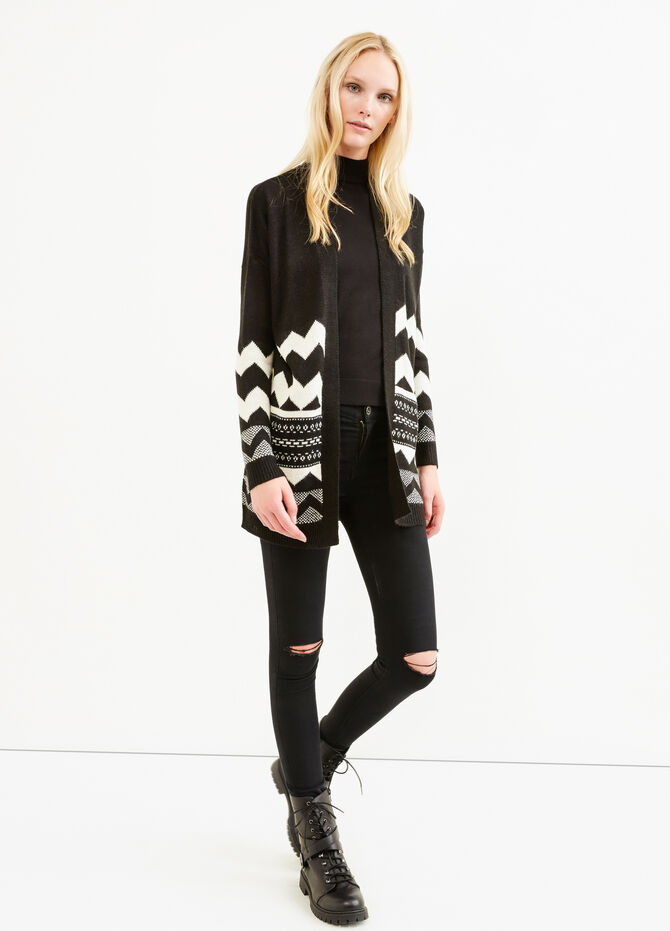 Embroidered cardigan without buttons