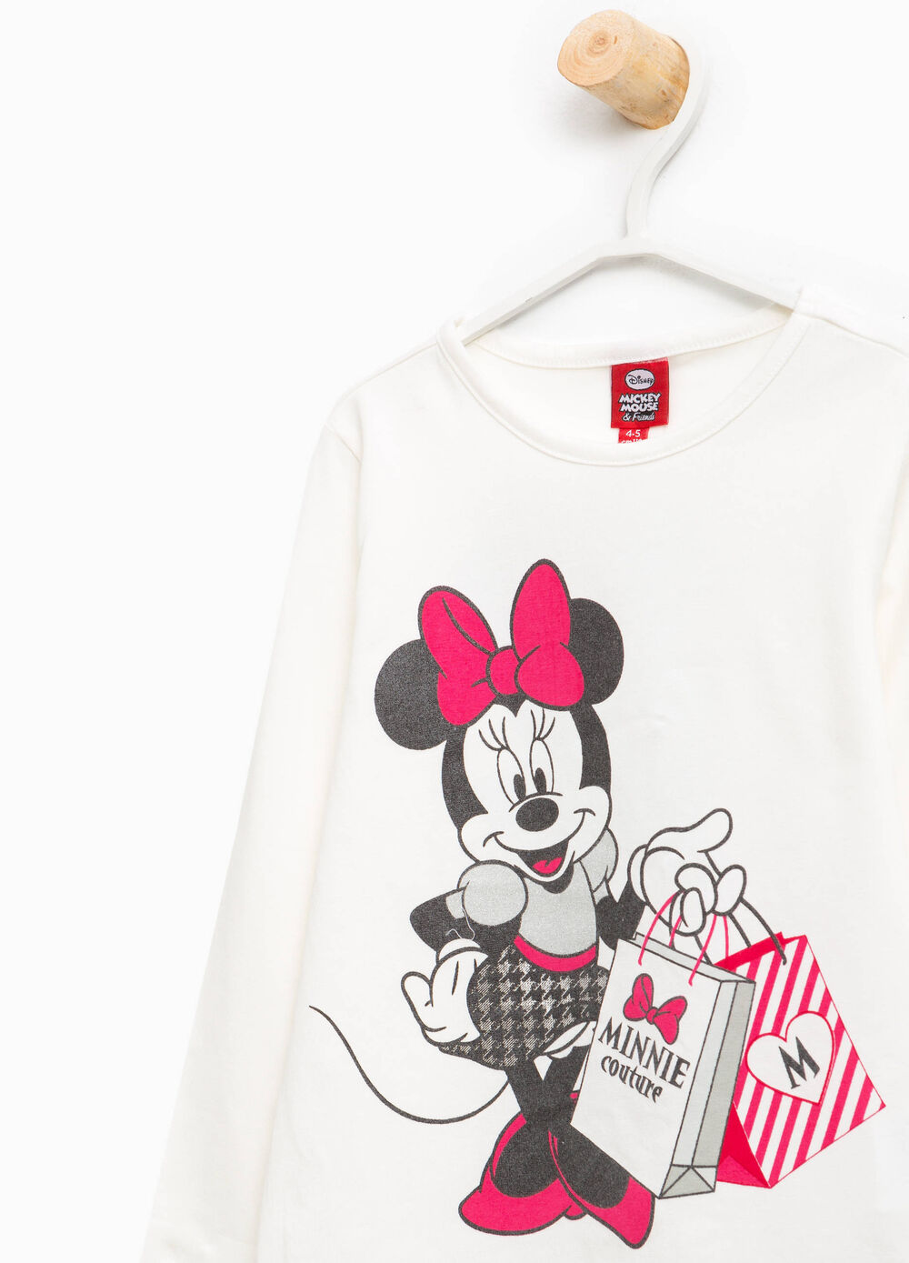 Cotton T-shirt with Minnie Mouse print