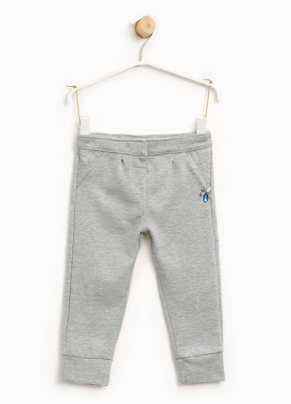 Glitter cotton trousers with bow | OVS