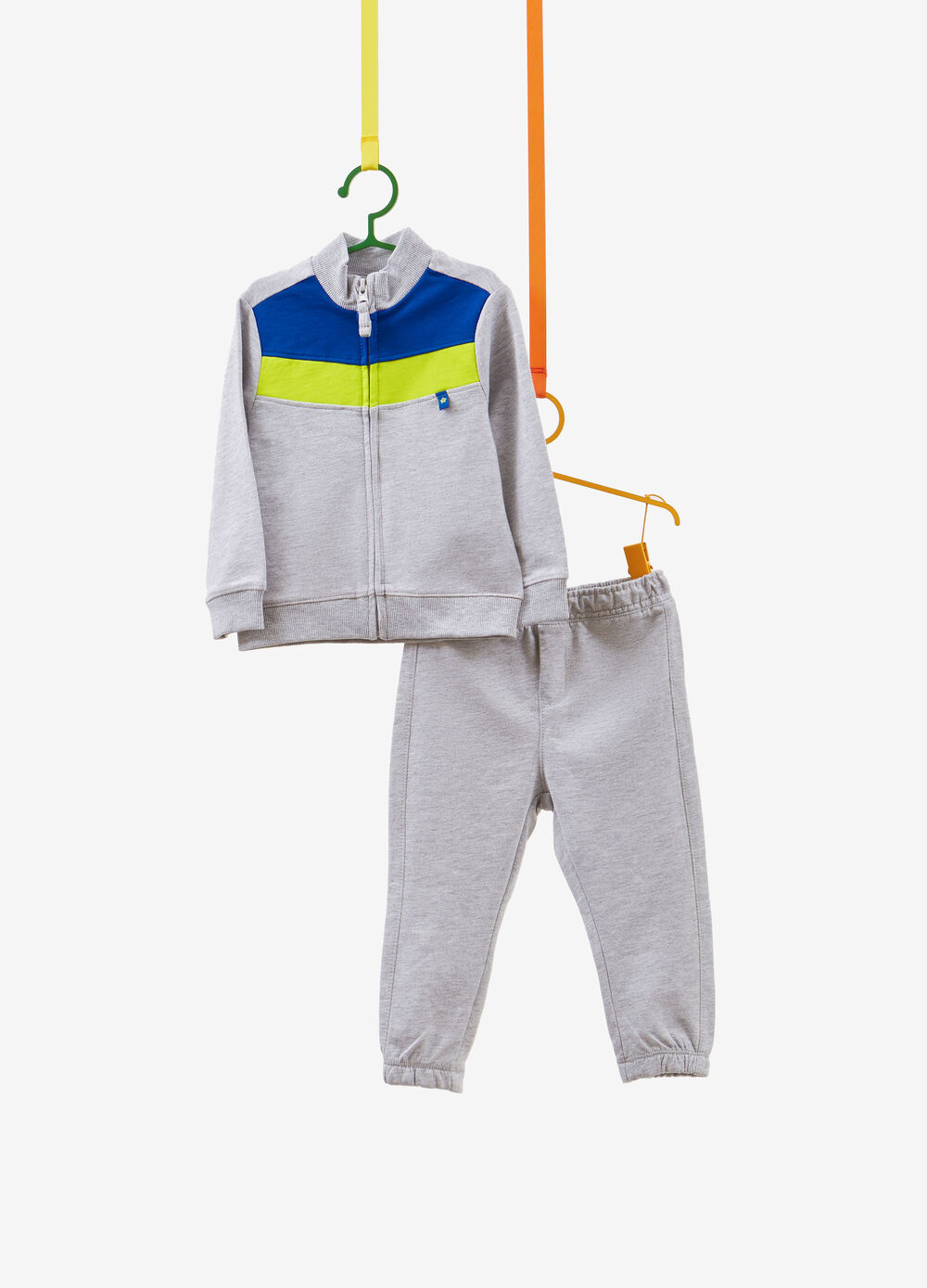 Cotton and viscose tracksuit with inserts