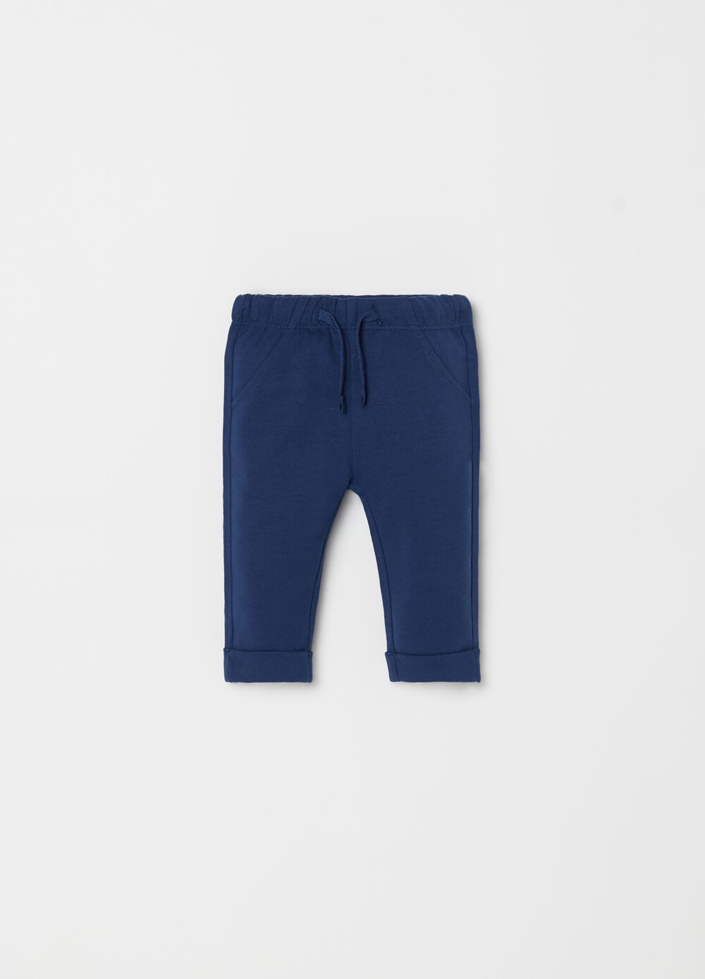 Pantaloni in felpa biocotton con coulisse