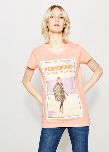 T-shirt con stampa in cotone