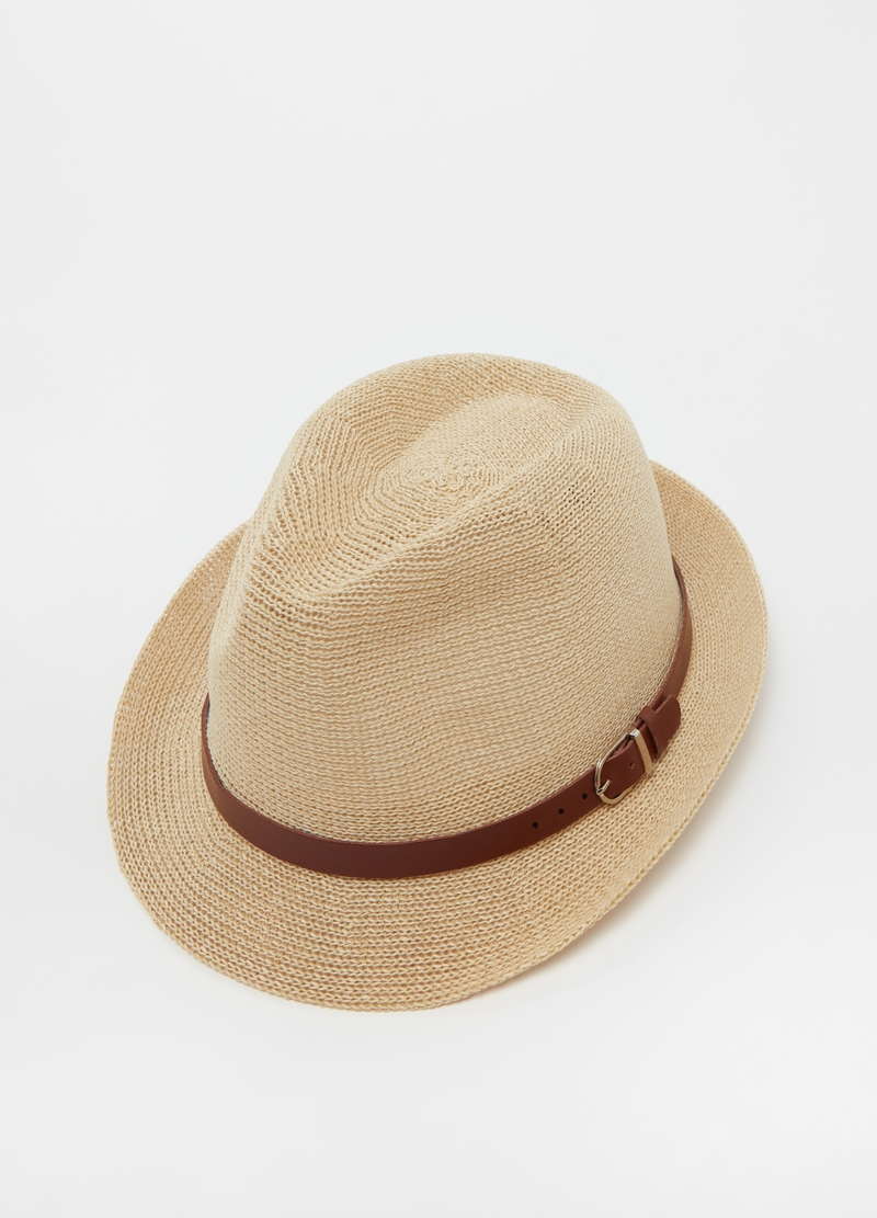 Straw hat with belt image number null