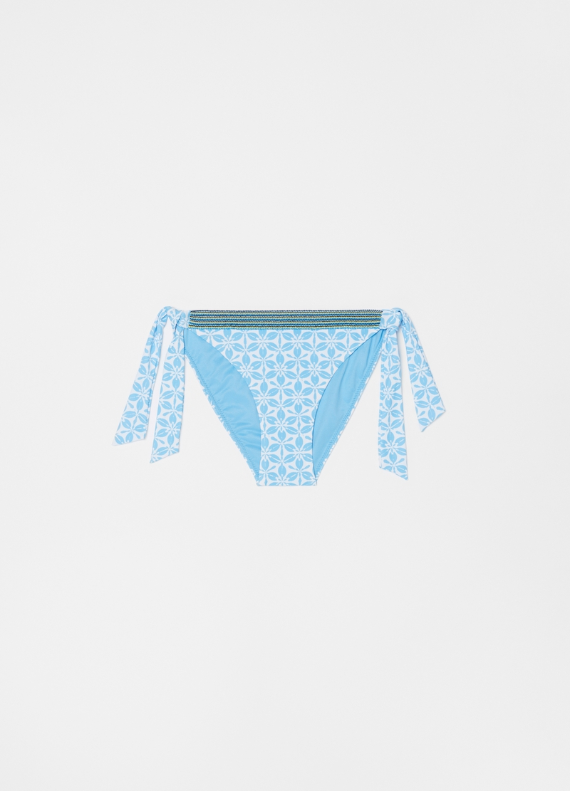Bikini briefs with laces and optical pattern image number null