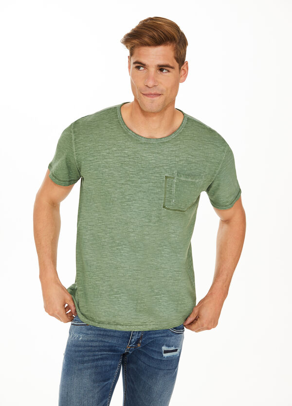 T-shirt in puro cotone con taschino